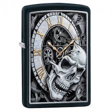 ROZETKA | <b>Зажигалка Zippo Skull Clock</b> Design 29854. Цена ...