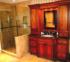 adorable bathroom shower ideas appealing design home remodel plebio brown wooden vanity with hutch marble countertop round shape undermount sink square wall appealing design ideas home