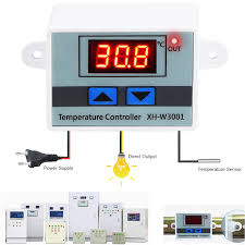10A 12V 24V <b>110V</b> 220VAC <b>Digital</b> LED Temperature Controller XH ...