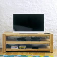 aston solid oak widescreen open television cabinet tv unit baumhaus space aston solid oak