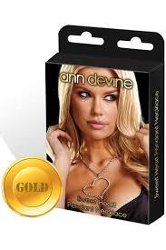 <b>Ann</b> Devine Sweet Heart, золотой - Condom Shop