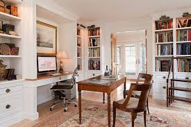 interiors view in gallery picture lighting illuminates the open corner shelves in the home office beautifully design scot alcove contemporary home office