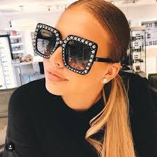 <b>Oversize sunglasses Top Rhinestone</b> Luxury Brand Designer ...