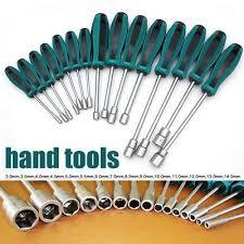 <b>1Pcs</b> Metal Socket Driver Wrench <b>Screwdriver Hex</b> Nut <b>Key</b> ...