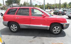 auto depot of lexington a trusted community member 2004 hyundai santa fe red passenger side