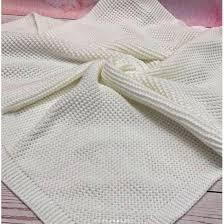 <b>Вязаный плед</b> для новорожденных Кукуруза белый купить