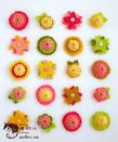 Цветы из фетра схемы фото