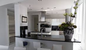 choosing modern bathroom and kitchen remodeling ideas elegant kitchen remodeling design with glossy black granite black white modern kitchen tables