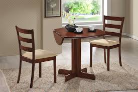 three piece dining set:  piece dining set quot drop leaf table with two chairs all cherry finish