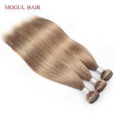<b>MOGUL HAIR Indian</b> Straight <b>Hair</b> Weave Bundles Color 8 Ash ...