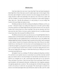 a reflective essay example Free Essays and Papers