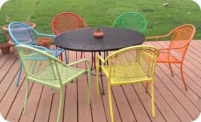 metal patio furniture paint