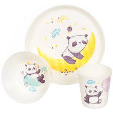 <b>Набор детской</b> посуды из пластика <b>Little Angel</b> Panda LA1105-НК ...
