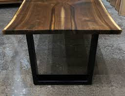 walnut cherry dining: live edge black walnut book matched dining tables and slab tops handcrafted in east dundee