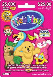 Webkinz $25 eStore Gift Card GANZ WEBKINZ - $25 - Best Buy