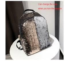 Women <b>Glitter Bling Sequins</b> Backpack Large Big Capacity Mochila ...