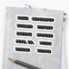 """Rad <b>Black School</b> Subject <b>Sticker</b> Pack"" <b>Sticker</b> by The-Goods ..."