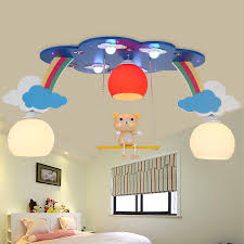 ceiling light baby lights led creative rainbow cloud ceilings kids boy girl children bedroom flush mount baby bedroom ceiling lights