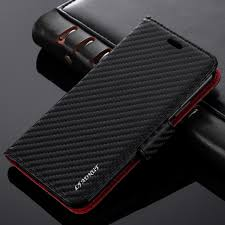 L-FADNUT Luxury Business Premium Carbon Fiber Flip <b>Stand PU</b> ...
