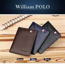 <b>WILLIAMPOLO Mens Wallet</b> Slim Business Card Credit Card Card ...