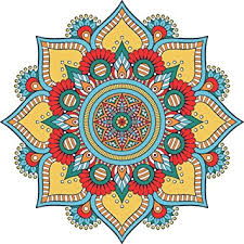 Buy DECOR Kafe Rangoli <b>Pattern</b> Floor <b>Stickers</b> (61 X 61Cm ...