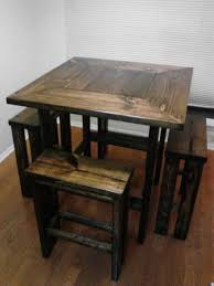 small square kitchen table: this would brought cute in that small spot in our new kitchen