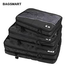 BAGSMART 3 Pcs Double Layer <b>Packing Cube</b> For Clothing Zippers ...