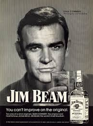 Here is Sean Connery in 1974 advertising Jim Beam bourbon. Connery appeared in a series of ads for Jim Beam from 1966 to 1974. This was apparently the last ... - jim-beam-sean-connery-1974