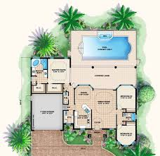 Florida Style House Plans   Plan   Main Floor Plan