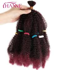 <b>HANNE</b> Afro Extensions Bulk <b>Hair</b> Small Kinky Curly 12 Pure Or ...