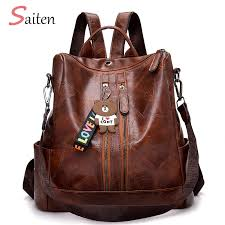 <b>2019 Fashion Women Backpack</b> High Quality Youth Leather ...