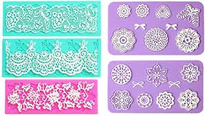 Embossing Lace <b>Fondant</b> Moulds, Multi Circle <b>Flowers</b> Lace Mat ...