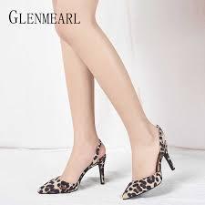 <b>Women Pumps</b> High <b>Heels Shoes</b> Summer <b>Sexy Leopard</b> Pointed ...