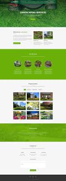 landscaping website template dribbble graphics landscaping website template