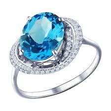 <b>Кольцо с топазом</b> (75 фото): серебряное или из золота с ...