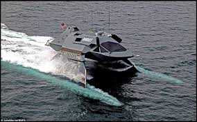 work area twin prime: ghost is a reconfigurable high speed small waterplane area twin hull swath vessel