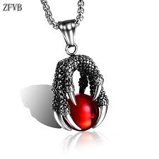 <b>ZFVB</b> Classic Dragon Claw <b>Necklace</b> Men Stainless Steel Dragon ...