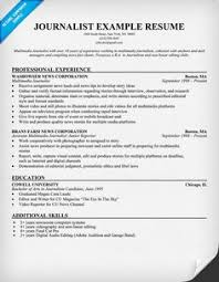 Free  Journalist Resume Example  resumecompanion com  Pinterest