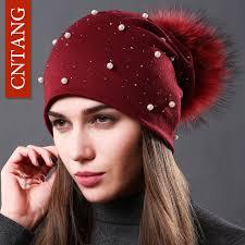 CNTANG <b>2018 Women's</b> Fashion <b>Hat Autumn</b> Winter Rhinestones ...