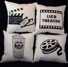 set of 4 theater theatre pillows personalized 12 by thepillowshack 4499 art deco box office loew