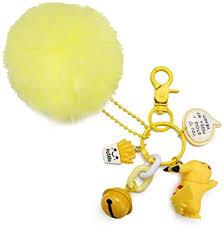 Pikachu Keychain, <b>Cute Pikachu</b> Keyring with Bell, Pikachu Plush ...