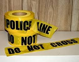 Storm Stripes Barricade Tapes, <b>POLICE LINE DO NOT</b> CROSS