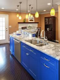 blue kitchen cabinets small painting color ideas: kitchen cool modern yellow lamp decor with blue kitchen cabinet colors amazing granite countertops single