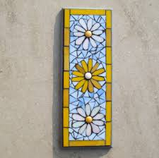mosaic wall decor: garden decoration exterior simple mosaic flower pattern wall