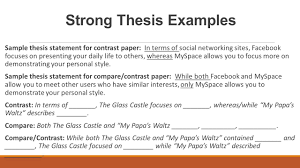 compare contrast essay structure the glass castle analysis page strong thesis examples sample thesis statement for contrast paper in terms of social networking sites
