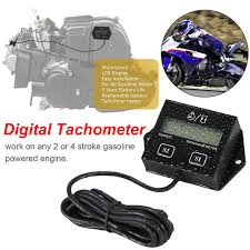 Online Shop <b>Digital Tachometer Engine Tach Hour</b> Meter Inductive ...