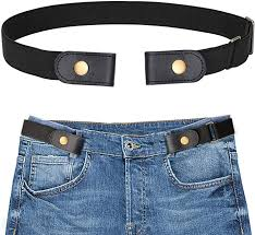 <b>Buckle Free</b> Stretch Belt for Men, SANSTHS Comfortable <b>Elastic</b> Belt ...