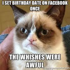 I set Birthday date on Facebook once The whishes were awful ... via Relatably.com