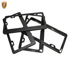 <b>2pcs</b>/set License Plate Frame <b>Full Real</b> Carbon Fiber Front & Rear ...