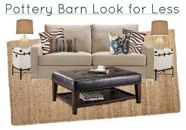 barn living rooms west  pottery barn living room for less moodboard